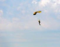 Athlete skydiver flying Royalty Free Stock Image