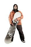 Athlete snowboarder Stock Images