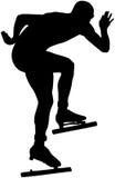 Athlete speed skating Stock Images