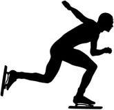 Athlete speed skating Stock Image