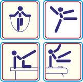 Athlete. Sport athlete Pictogram Icon Track Royalty Free Illustration