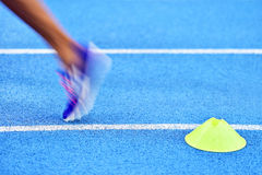Athlete on the sprint track Stock Images