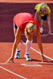 Athlete at the Starting Line Royalty Free Stock Images