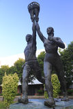 Athlete statue Royalty Free Stock Images