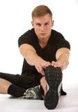 Athlete streatching Stock Photos