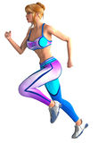 Athlete in stretch clothes Royalty Free Stock Photography