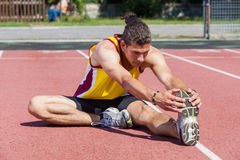 Athlete Stretching Stock Photos