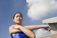 Athlete Stretching Arm Stock Photos