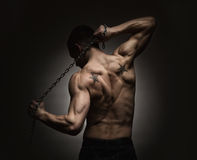 Athlete stretching out Royalty Free Stock Photography