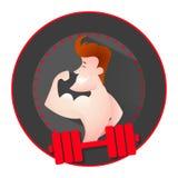 Athlete strong man. Character logo.Vector cartoon illustration Stock Photography