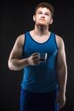 Athlete studio shot Stock Photography