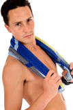 Athlete, swimmer towel Royalty Free Stock Photo