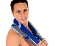 Athlete, swimmer towel Stock Image