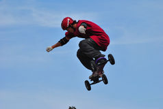 Athlete to  Mountainboard Stock Photos