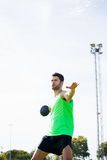 Athlete about to throw a discus Stock Photography