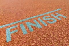 Athlete track finish sign Stock Photo