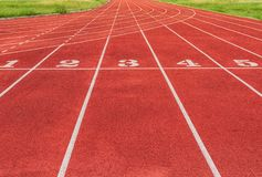 Athlete Track or Running Track numbers Royalty Free Stock Image