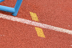 Athlete Track or Running Track Royalty Free Stock Image