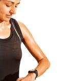 Athlete training Stock Image