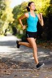 Athlete training alone Royalty Free Stock Photo