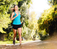 Athlete training alone Stock Photography