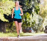 Athlete training alone Royalty Free Stock Image