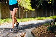 Athlete training alone Stock Photo