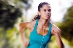 Athlete training alone Stock Image