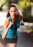 Athlete training alone Royalty Free Stock Images