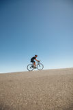 Athlete training for cycling event of triathlon Royalty Free Stock Photography