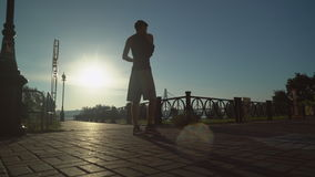 Athlete training at the open air in summer season stock video footage
