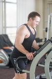 Athlete on the treadmill Stock Image