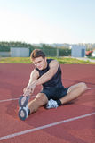 Athlete warming. Stock Image