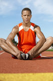 Athlete Warming Up On Track Royalty Free Stock Photography