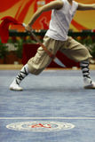 An athlete was playing in a martial art competition at Jinan Uni. Versity on Nov. 11, 2013 Stock Images