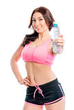 Athlete with water bottle Stock Photo
