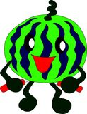 Athlete watermelon man Royalty Free Stock Photos