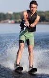 Athlete waterskiing Royalty Free Stock Photos