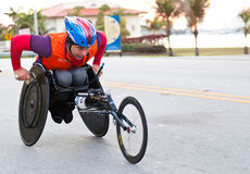 Athlete in wheelchair Royalty Free Stock Photography