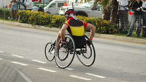 Athlete in wheelchair Stock Photo