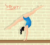 athlete who practices gymnastics Royalty Free Stock Image