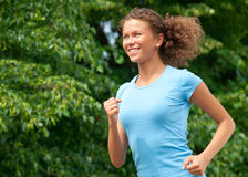 Athlete woman jogging outdoors Royalty Free Stock Photo