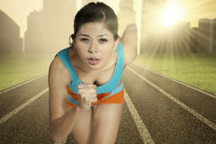 Athlete woman running Royalty Free Stock Photography