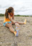 Athlete woman training Royalty Free Stock Photography