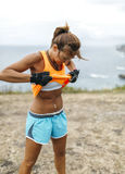 Athlete woman training Royalty Free Stock Images