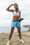 Athlete woman training Stock Photography