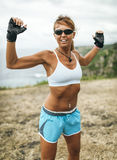 Athlete woman training Royalty Free Stock Photo