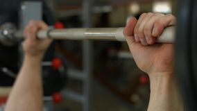 Athlete working out in gym. stock footage