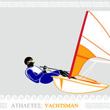 Athlete yachtman Royalty Free Stock Image