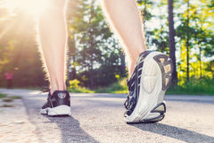 Athlete young male jogging outside Royalty Free Stock Photography